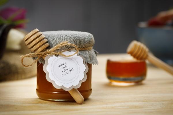 Mini Gläser 120g Schweizer Honig wunschbeschriftet & dekoriert