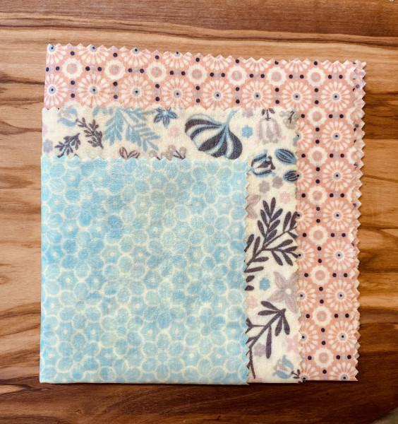 Bienenwachstücher (Pastell) 3er Set