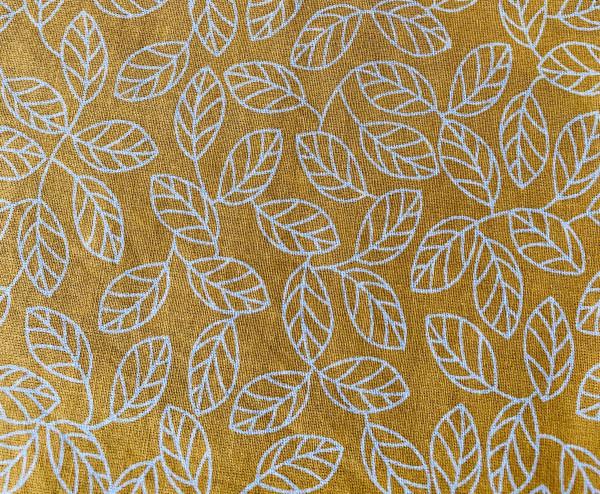 Bienenwachs Brot & Kuchentuch 35cm x 45cm Blätter gelb
