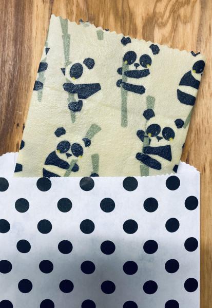 Kinder Bienenwachstuch (Panda)